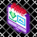 Downloading Fake Image Icon
