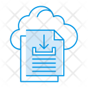Cloud Files Download Icon