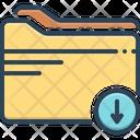 Download Folder Arrow File Icon