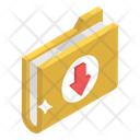 Download Folder Data Downloading Data Storage Icon