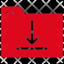 Folder Download Archive Icon