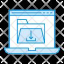 Laptop Folder Download Icon