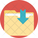 Folder Download Data Icon