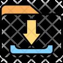 Data Downloading Folder Icon