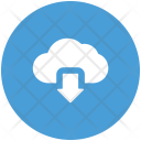 Cloud Downloading Arrow Icon