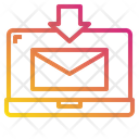 Laptop Mail Download Icon