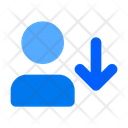 Download User Download Arrow Down Icon