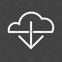 Downloads Data Cloud Icon