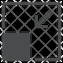 Minimize Square Arrow Icon