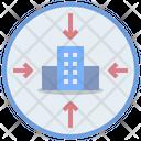 Downsizing Corporation Reduction Icon