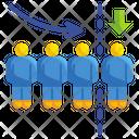 Downsizing Company Reduce Icon