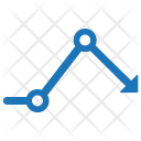 Downward Chart Graph Icon