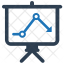 Downward Chart Regression Icon