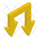 Downward Arrow Road Direction Direction Arrow Icon
