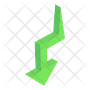 Downward Curved Arrow Icon