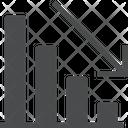 Decrease Graph Loss Graph Analytics Icon