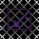 Downward Left Arrow Icon