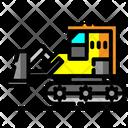Dozer Bulldozer Construction Icon