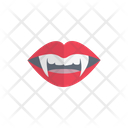 Dracula Teeth Face Icon