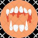 Dracula Teeth Scary Icon