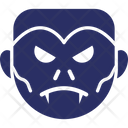 Dracula Face Halloween Monster Icon