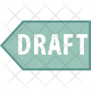 Draft Tag Label Icon