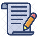 Draft Writing Content Icon
