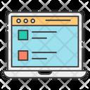 Draft Blogging Web Content Icon