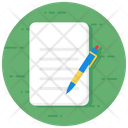 Draft Blogging Content Icon