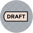 Draft Tag Typographic Icon