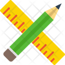 Pencil Ruler Scale Icon