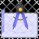 Divider Drawing Drafting Drawing Compass Icon