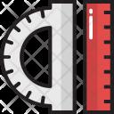 Scale Protractor Degree Icon