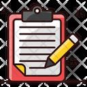 Drafting Pad Jotter Writing Pad Icon