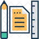 Drafting Pencil Ruler Icon