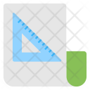 Graph Paper Drafting Icon