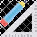 Pencil Set Square Icon