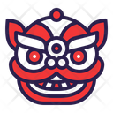 Lion Head Chinese Icon