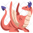 Medieval Dragon Fantasy Icon