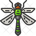 Dragonfly Abstract Insect Icon