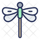 Dragonfly Spring Plant Icon