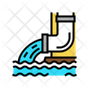 Drainage Water Falling Icon