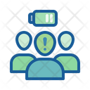 Drained in crowd Icon