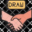 Draw Shakehands Hand Icon
