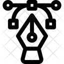Curve Draw Line Icon
