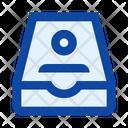Drawer Box Card Index Icon