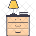 Drawers Chest Lamp Icon