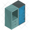 Glass Door Cupboard Icon