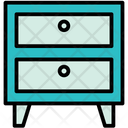Nightstand Furniture Drawers Icon