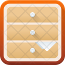 Drawers Storage Cabinet Icon